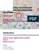 What Undermines Trust in Brands? Moving Towards More Responsible Use of Data