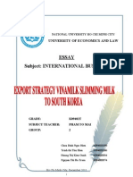 Export Strategy Vinamilk Slimming Milk to South Korea -Group 2- K09402T