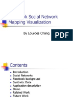 Facebook Social Network Mapping Visualization