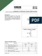 Bc107 Data Sheet