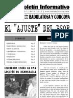 """Boletín Informativo IU Badolatosa - nº 03 - EL """"AJUSTE"""" DEL PSOE"""