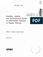 Article - Solubility Stability and Electrochemical Studies of Sulfur-sulfide Solutions in Organic Solvents