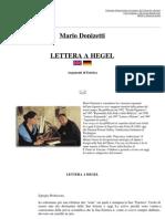 Mario Donizetti - Lettera a Hegel