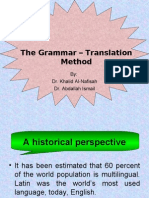 Grammar – Translation Method