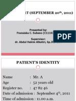 Laporan Kasus Kardiovaskuler (Fransiska_C11107156)