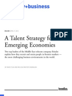 A Talent Strategy for Emerging Economies