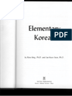 Elementary Korean - Ross King, Jae-Hoon Yeon