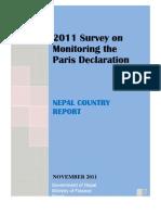 2011 Survey on Paris Diclaration MoF