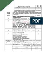 Marketing Management-II - GU Syllabus
