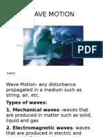 WAVE MOTION Ppt Lecture Part 1