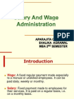 Salary and Wage Administration