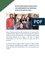 SOCIA DE ANFUCULTURA RECIBE CHEQUE POR 8 MILLONES EN CUMPLIMIENTO DE SENTENCIA CONTRA EL ESTADO DE CHILE.