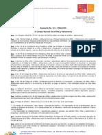 Resolución No. 016 - CNNA-2009  El Consejo Nacional de la Niñez y Adolescencia