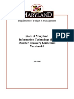 State of Maryland Disaster Planning Disaster Recovery Guidelines
