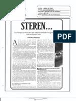 """""""STEREN, una Franquicia que se ha desarrollado con gran éxito en nuestro país"""" Abril de 1996-Revista Entrepreneur"""