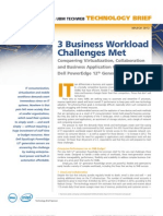 3 Business Workload Challenges Met Dell PowerEdge 12th Generation Servers