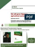 Agricultural Master Plan