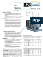 Perkins Diesel Generator p400pub 360kw