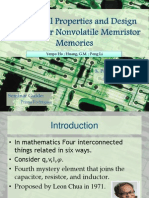 Dynamical Properties and Design Analysis for Nonvolatile Memristor