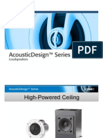 AD Series Hi-Powered Ceiling Loudspeakers Intl