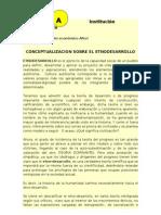DT Eje - Etnodesarrollo Conceptualización del etnodesarrollo