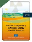 Greater transparency in nuclear energy(Eng)/ Mayor transparencia en energía nuclear(Ing)/ Gardentasun gehiago energía nuklearrean(Ing)