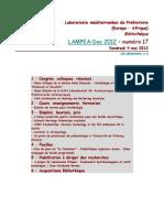 LAMPEA-Doc 2012 - numéro 17 / Vendredi 4 mai 2012