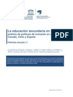Estudio casos políticas educativas educ secundaria