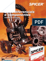 SPICER CATÁLOGO DE EIXOS DIFERENCIAL E COMPONENTES