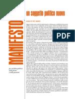 Manifesto Soggetto Politico Nuovo