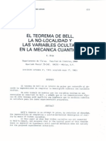 Teorema de Bell No Localidad