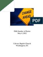 Bulletin, May 6, 2012