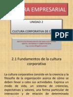 Fundamentos de La Cultura Corporativa