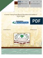 Sahara Hopital Project Report