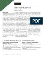 Peer Review Guiude