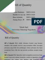 Bill of Quantity