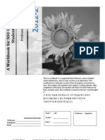 Workbook for Nsu Students With Jobs With Hangul Help