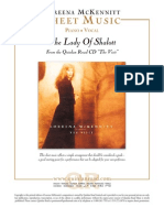 Lady of Shalott Loreena Mckennitt Sheets