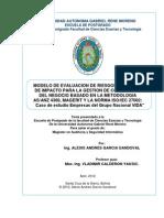 Modelo de Evaluacion de Riesgos y Analisis de impacto para la Gestión de Continuidad del Negocio v1.1
