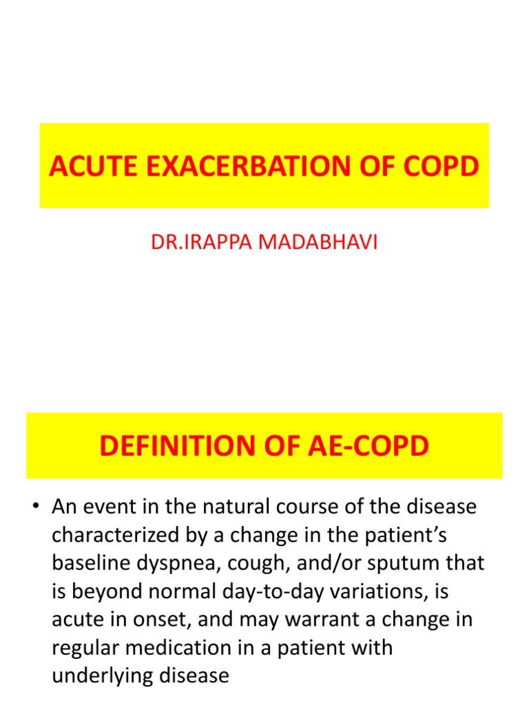 acute exacerbation of copd by dr irappa madabhavi | pneumonia