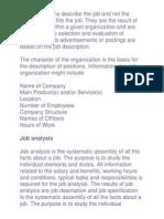 Job Descriptions Describe the Job and Not the Individual Who Fills the Job