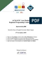 Acm Icpc Phuket 2009 Contest Pb Final
