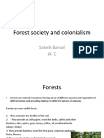 Forest Society and Colonialism