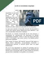 Derecho y Desarrollo en Sociedades Complejas