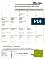 May 2012 Workshop Calendar