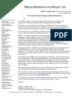 Annual Campaign Letter 2012