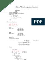 Tema 2 Polinomis Equacions i Sistemes