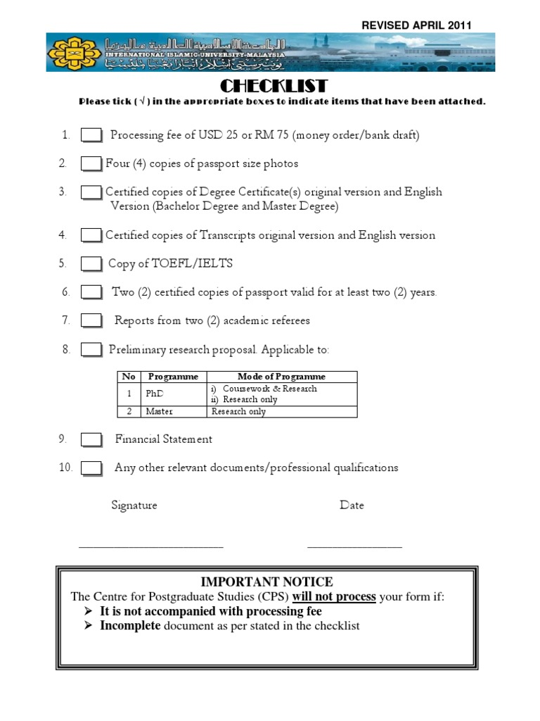 Application Form New Postgraduate Education Academic Degree