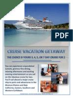 corporate cruise vacation getaway