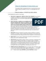 Editorial Guidelines Ezine Articles